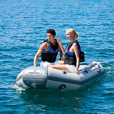 Hydro Force Inflatable Dinghy Drop Stitch Floor 4 Adult 1 Child Boat Oars Pump