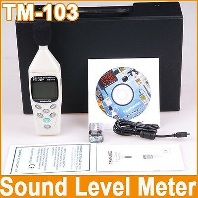 Tenmars TM103 Datalogging Digital Sound Level Meter 30-130dB Full Instructions