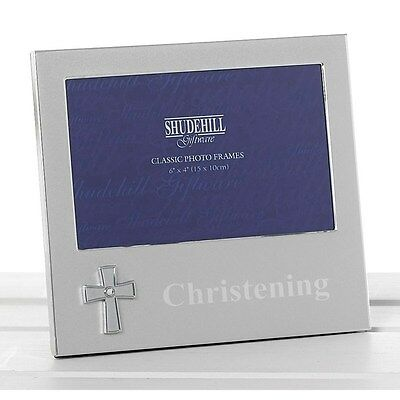"Silver Christening Photo Frame Gift - 4""x6"" 74500"