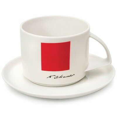 Imperial Lomonosov Porcelain Tea Cup and Saucer Malevich's Red Square