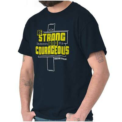 Strong Courageous Christian Shirt Religious Gift Jesus Christ T Shirt