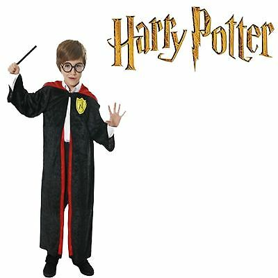HP Inspired Robe Cloak Magic Cape Fancy Dress Boy Wizard Costumes UK Sizes 4-12