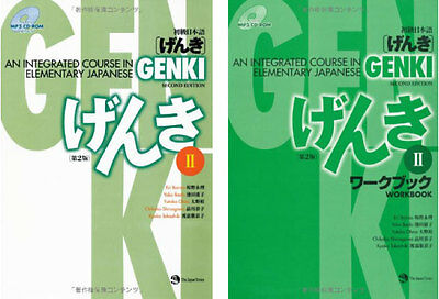 3-7 Days to USA. GENKI 2 Integrated Course Elementary Japanese Work And Text Set