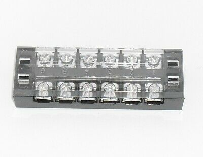 6 Position Screw Terminal Block 600V 30A with cover