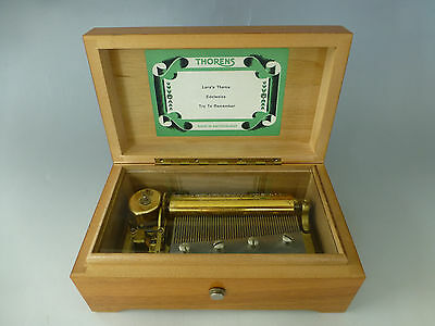 "Vintage ""THORENS"" PRE REUGE Swiss Music Box  50 Key Play 3 Songs ( WATCH VIDEO )"
