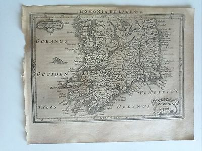 1634 Mercator Hondius: Momonia et Lagenia, Ireland Irlanda South Map