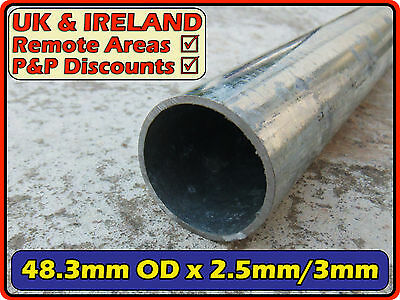 "Galvanised Mild Steel Round Tube (pipe,post,pole) 48.3 ( 50mm  2"") 3mm 