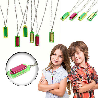 Dazzling Toys 12 Pieces Mini Harmonica Necklace Party Favors Party Bag Fillers