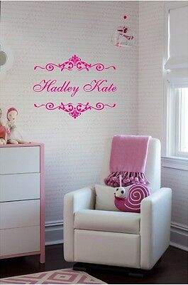 Fancy Personalized Name Wall Sticker Wall Art Decor Vinyl Decal Girls Room