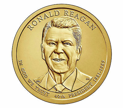 2016 President Ronald Reagan P&D 2 Dollar Coin Presidential Set Uncirculated BU