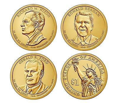 2016 6 Coin Set President Nixon Ford Reagan P D Presidential Dollar Uncirculated