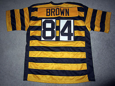 bc0462a7fad ANTONIO BROWN 84 Pittsburgh Steelers Autographed SIGNED 80th Jersey w/BAS  COA XL
