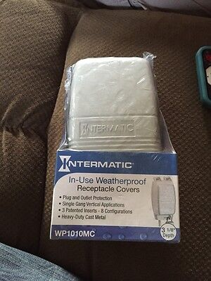 Intermatic WP1010MC Receptacle Cover Weatherproof Outlet Protection Lockable New