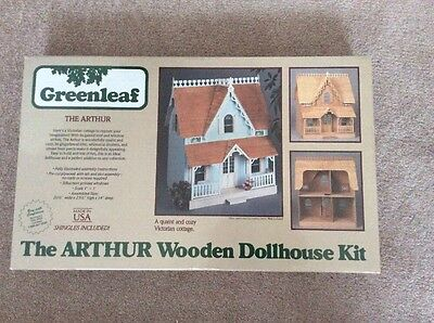 Greenleaf The Arthur Wooden Dollhouse Kit New In Box Usa Vintage !!