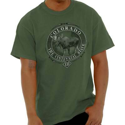 Colorado The Centennial State Pride USA T Shirt Moose Elk Gift T-Shirt Tee