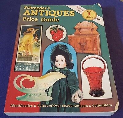 Schroeders ANTIQUE PRICE GUIDE Paperback Book Year 2001 19th Edition