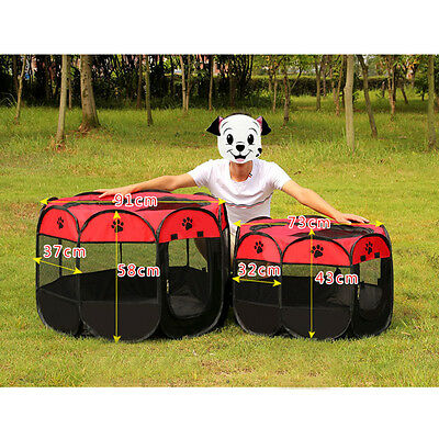 Pet Tent Folding Fence Playpen Kennel Puppy Dog Cage Exercise Soft Crate HOT R9