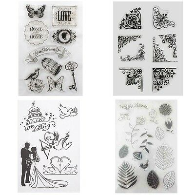 DIY Silicone Rubber Clear Stamp Seal Scrapbooking Diary Photo Cards Decor Craft