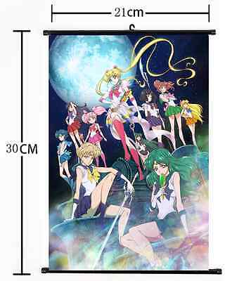 Hot Anime Sailor Moon Crystal Wall Poster Scroll Home Decor Cosplay 864