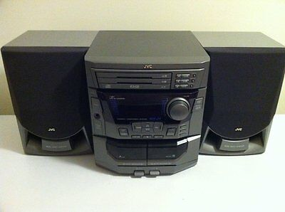 JVC Stereo Receiver Player !READ DESCRIPTION! CD CA MX J9 WITH SPEAKERS AMFM -