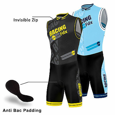FDX Mens Triathlon Tri Suit Padded Compression Running Swimming Cycling Skinsuit