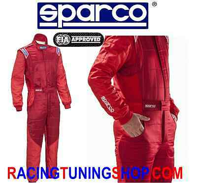 SPARCO RS-5 RACE SUIT RACING OVERALL FIA 8856-2000 ROT Größe 58