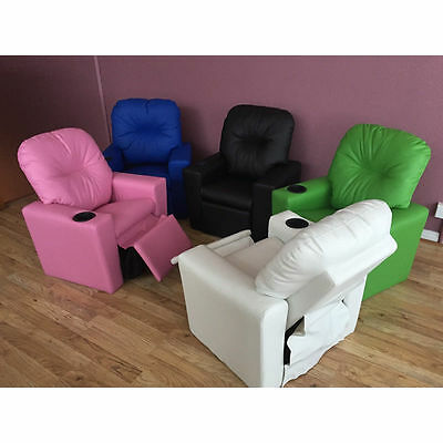 Kids PU Leather Children Recliner Lounge Chair Sofa with Drink Holder