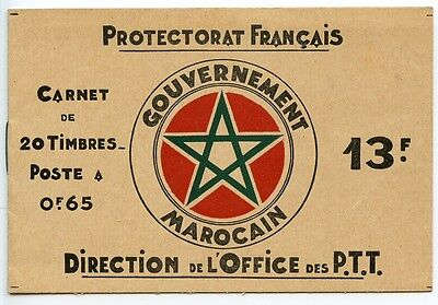 MOROCCO French Colonies Book of 20 x 65c stamps mint