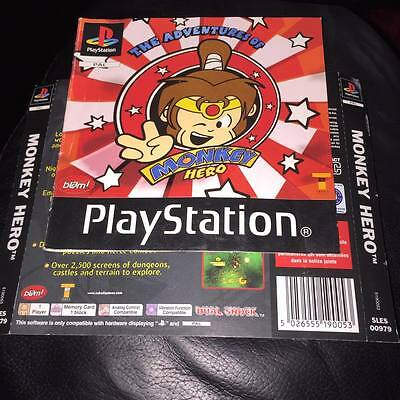 manual and back artwork for monkey hero ps1 playstation 1 NO GAME DISC INCLUDED