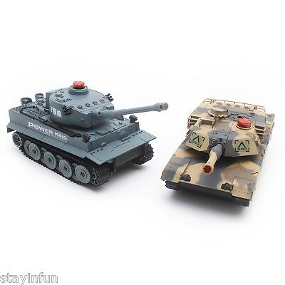 HUANQI H508 - 10 Simulation Infrared Radio Remote Control Twin Battle Tank Set