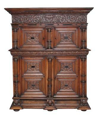 18Th Century Carved Flemish Oak Cupboard