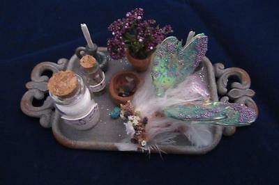 Fairy Tray - Handmade Fairy Tray with baby fairy and magical accessories