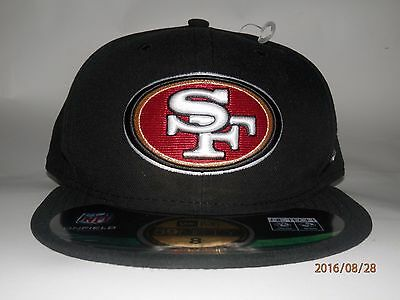 NFL San Francisco 49ers New Era On-Field 59Fifty Hat Black Size 8 Free Shipping