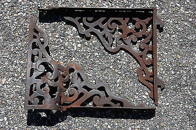 "Antique Stove Shelf Brackets Victorian Decorative Floral Architectural 14x11"" • CAD $56.85"