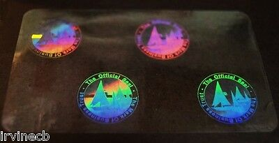 Hologram Overlays Mark of Business Overlay Inkjet Teslin ID Cards - Lot of 5