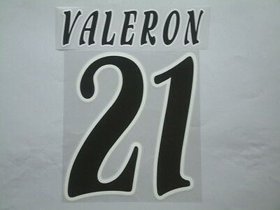 Valeron Nome+Numero Ufficiale Deportivo 2002-2003 Home Official Nameset