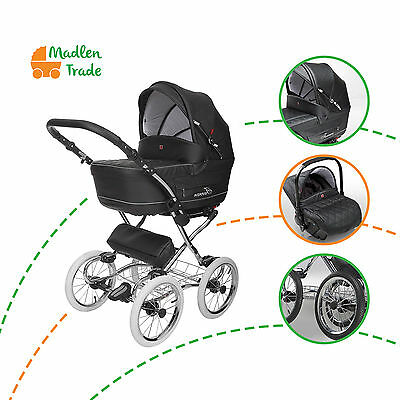 Baby Pram Pushchair 3in1 Turan Eco Travel System Buggy Optional Car Seat+Covers