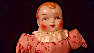 Carnival Baby Doll with Hand Painted Porcelain Head, 1930's