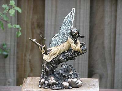 Genesis Little Fairies ~ Gift, Bronzed with Glittered Metal Wings