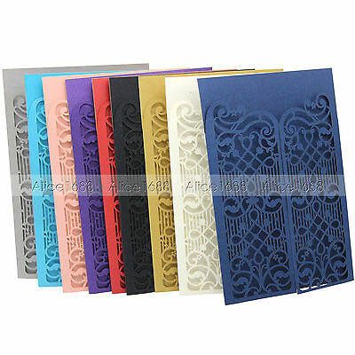 Laser Cut out Customized Print Wedding Invitations Cards With Envelopes,Seals