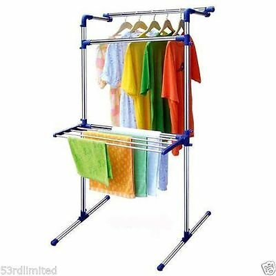 Foldable Extra Large Multipurpose Indoor Outdoor Clothes Air Laundry Dryer Rack