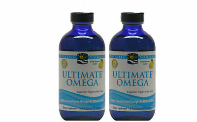 Nordic Naturals Ultimate Omega Liquid Lemon 237ml TWIN PACK EXPRESS DELIVERY