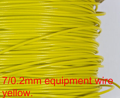 Layout wire - YELLOW 7/0.2 equipment wire for general wiring N & OO gauge 10M.