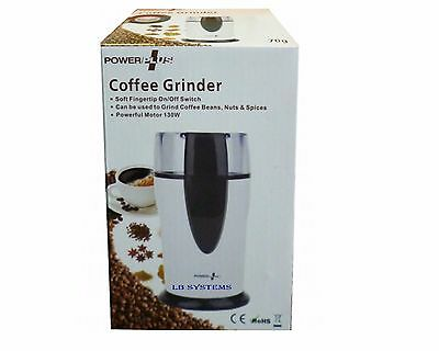 New Electric Whole Coffee Grinder & Nut,Beans,Spice grinder 130W POWERFUL MOTOR