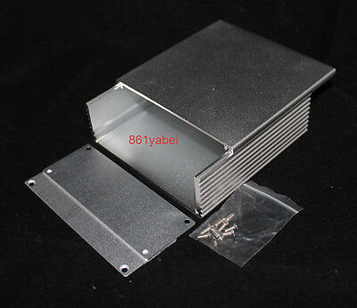 Silver Aluminum PCB instrument Box Enclosure Case Project DIY 110*110*40mm
