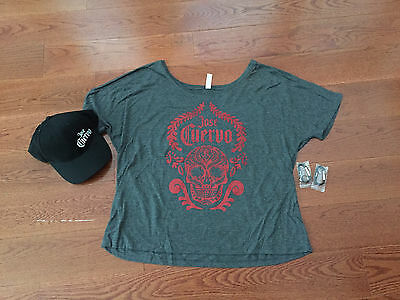 Brand New Jose Cuervo Tequila Women's Large T-Shirt And Hat Combo Gift Pack