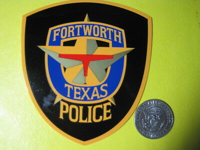 Texas Fort Worth Police Decal Full Size Exterior Mount (Outside)*