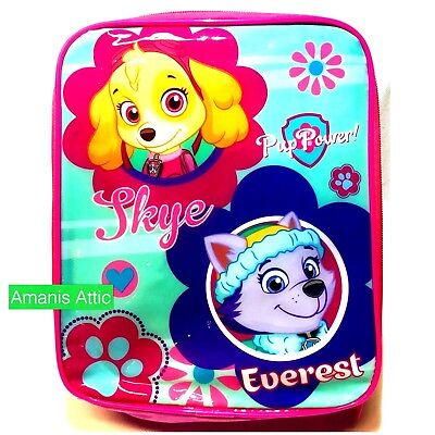 Paw Patrol Insulated School Lunch Bag travel Blue School Lunch Bag New