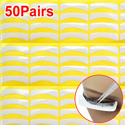 50 Pair Lint Free Under Eye Collagen Patches Pads For Lash Eyelash Extension AD