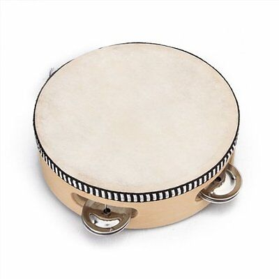 "6"" Musical Tambourine Tamborine Drum Round Percussion for KTV Party AD"